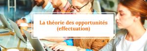 Effectuation : La théorie des opportunités (suite)